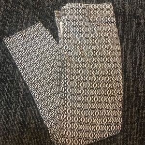 Cache Straight Leg Geometrical Jeans